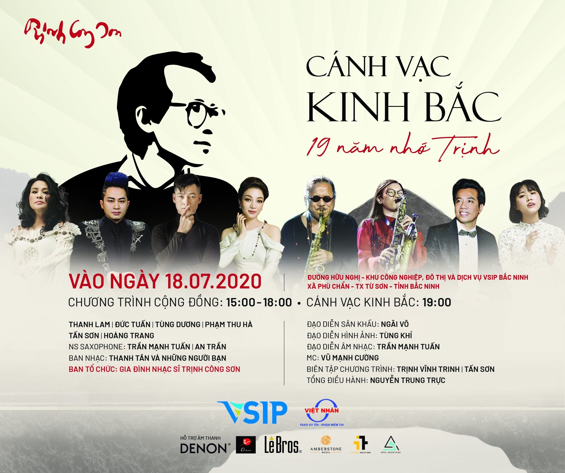 vsip bac ninh to hold concert to commemorate trinh cong son