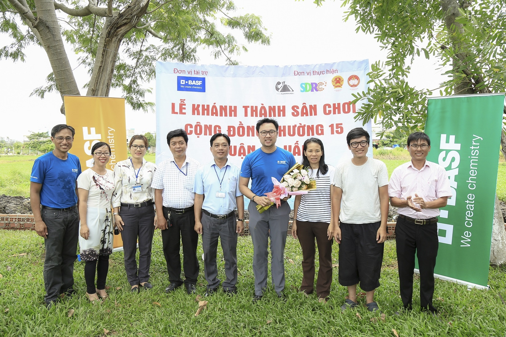 basf donates playgrounds to benefit over 12000 children