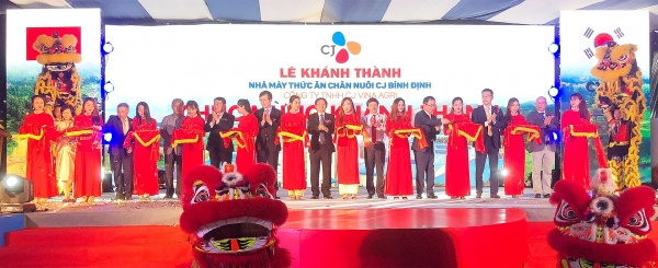 cj group opens sixth animal feed plant in vietnam