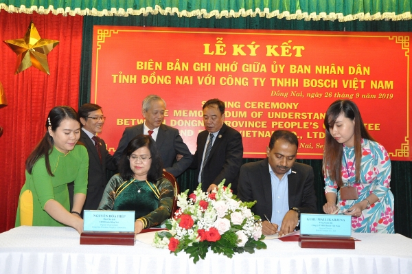 bosch inks mou with dong nai to develop skilled labour force