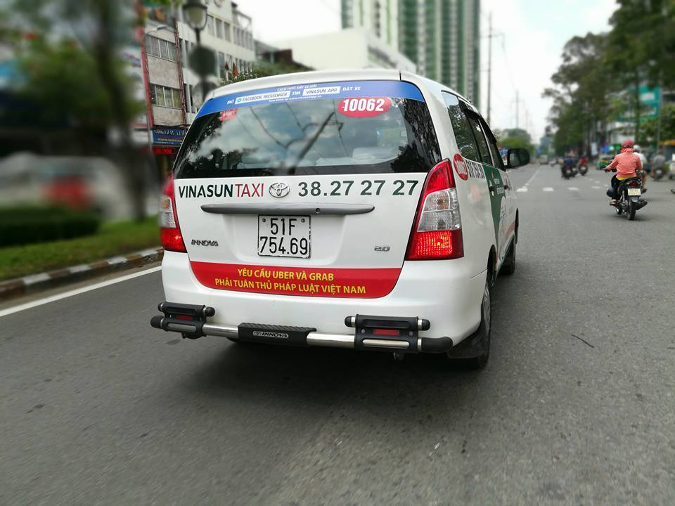 Vinasun's anti Uber and Grab banners backfire   Corporate