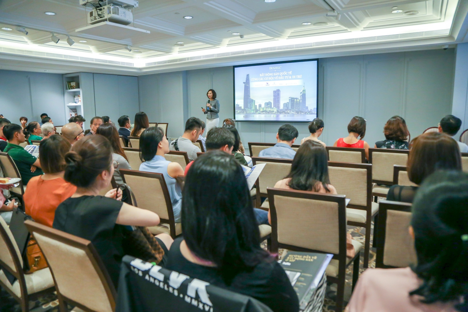 denzell holds seminar on international property investments
