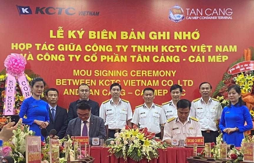south koreas kctc vietnam ltd ties up with tan cang cai mep jsc