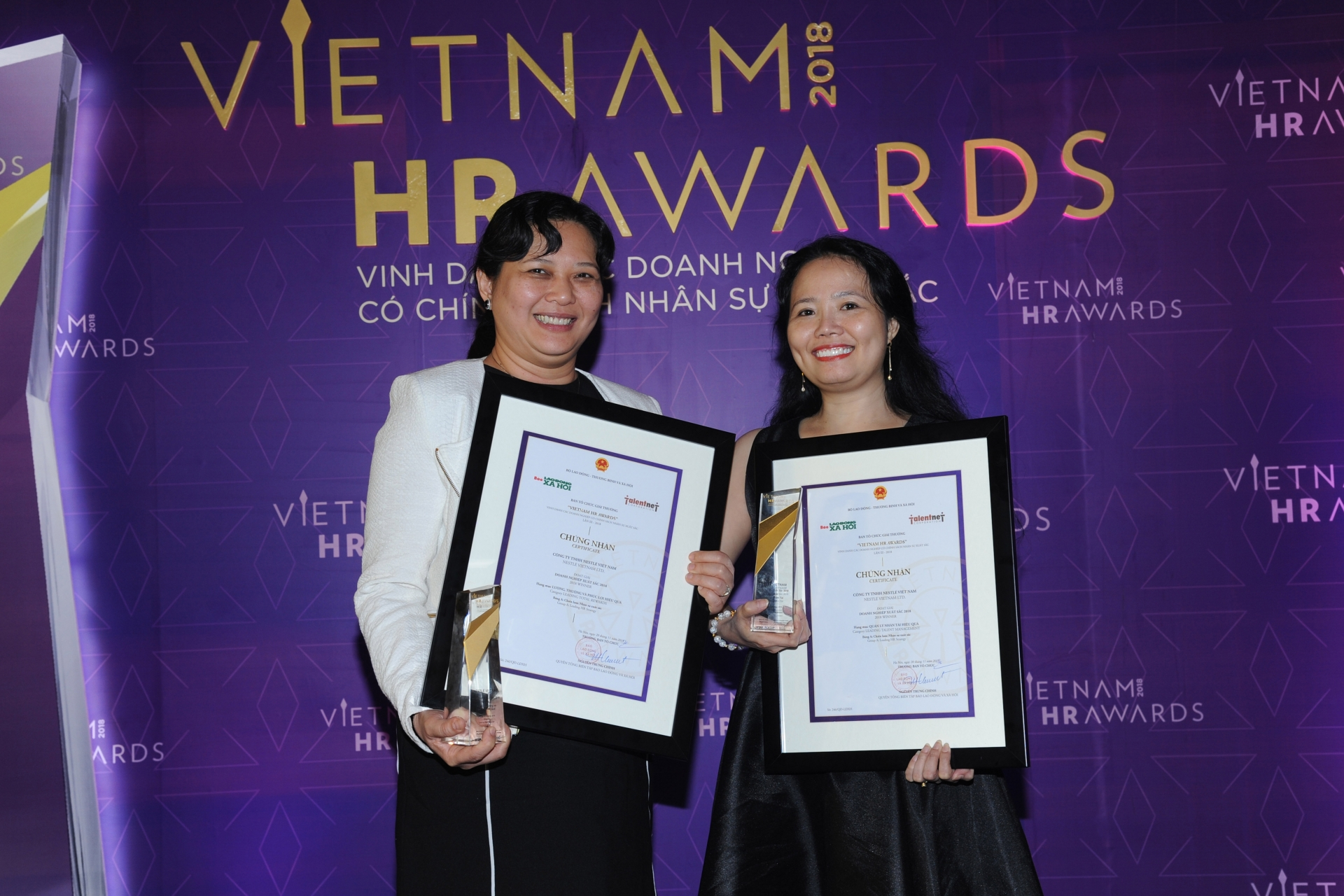 nestle vietnam honoured at 2018 vietnam hr awards