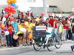 saigon cyclo challenge to raise funds for disadvantaged children