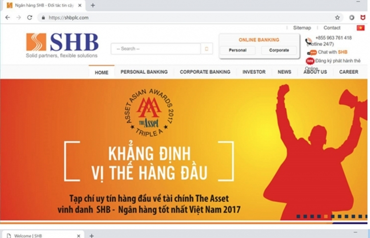 shb warns of fake websites