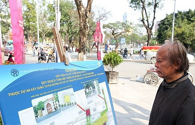 public votes for underground metro station by hoan kiem lake
