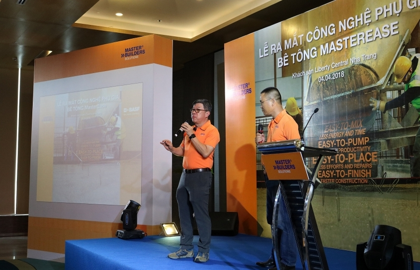basf introduces masterease admixture to help concrete work easier in nha trang