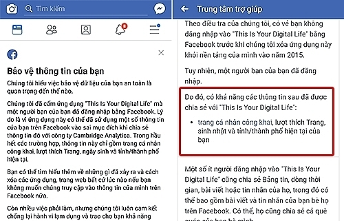 vietnamese users receive facebook announcement on leaked data