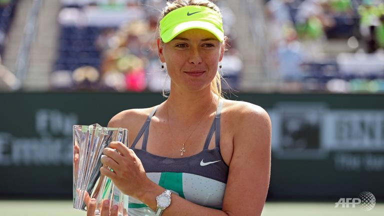 Sharapova routs Wozniacki for Indian Wells title