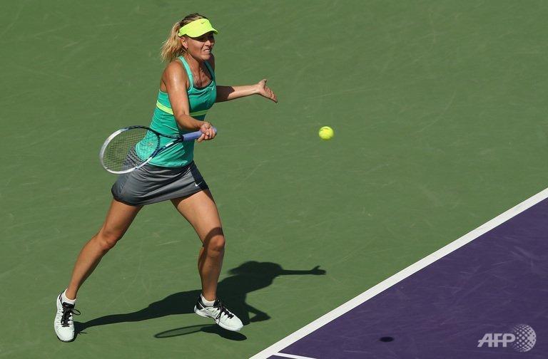 Sharapova beats Vesnina to reach Miami Masters 4th round