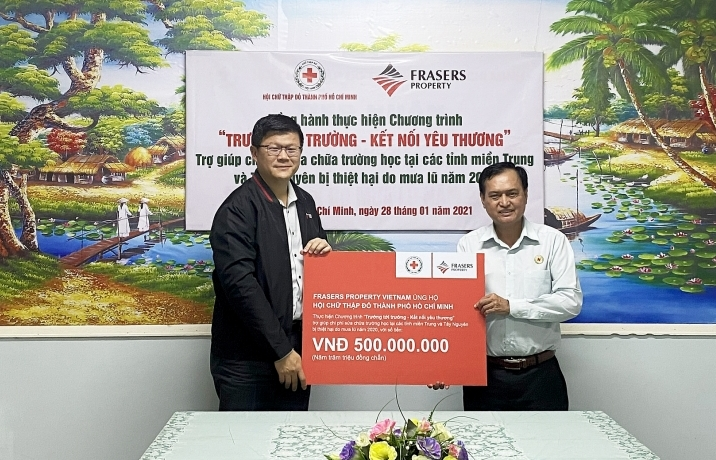 Frasers Property Vietnam raises $21,000 for children impacted by typhoons