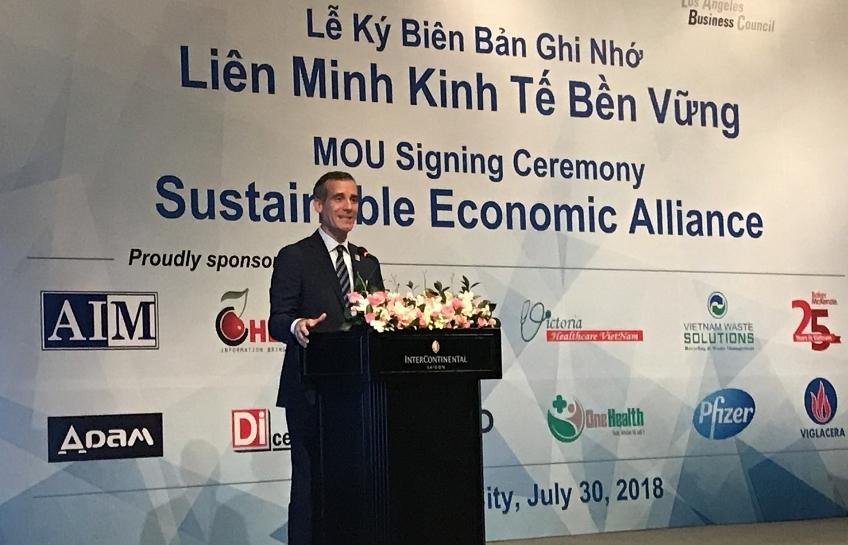 Los Angeles and Ho Chi Minh City establish sustainability alliance