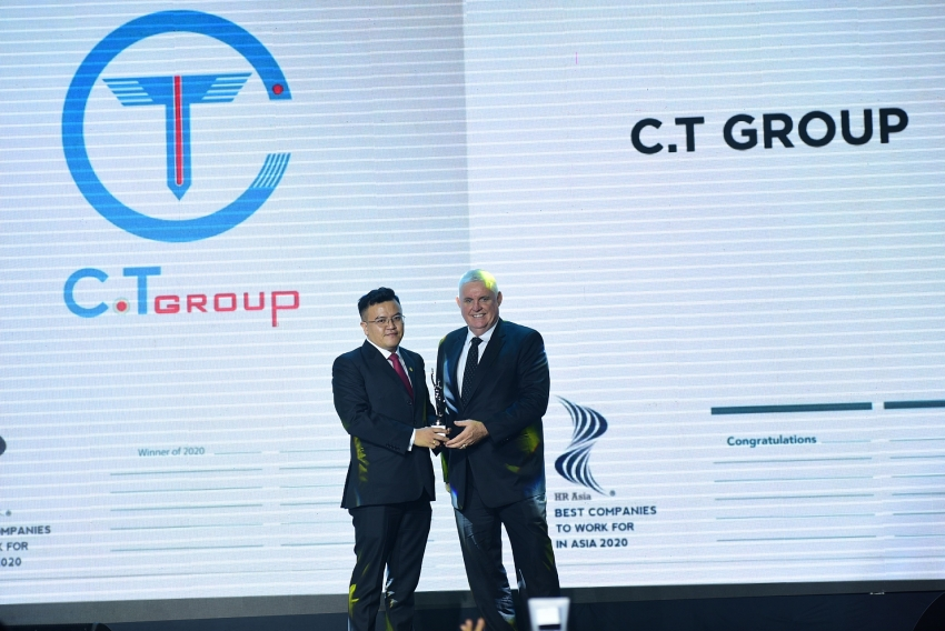 ct group receives best company to work for in asia award