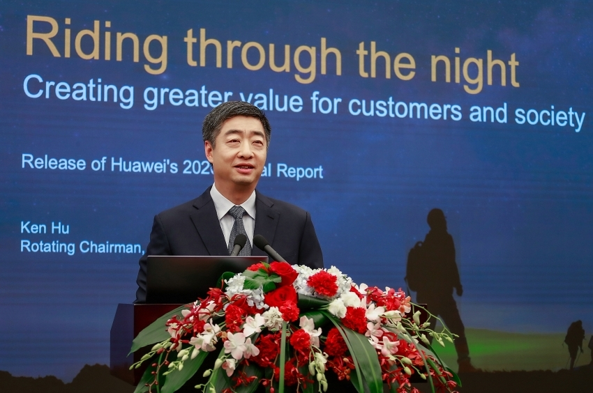 Huawei reports slow growth in 2020