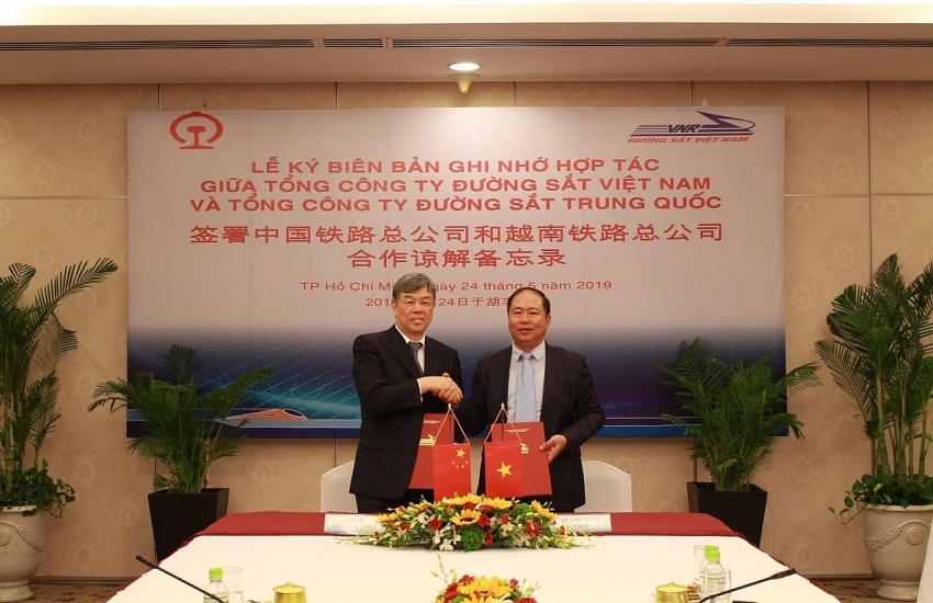 vietnam china railways groups strengthen co operation