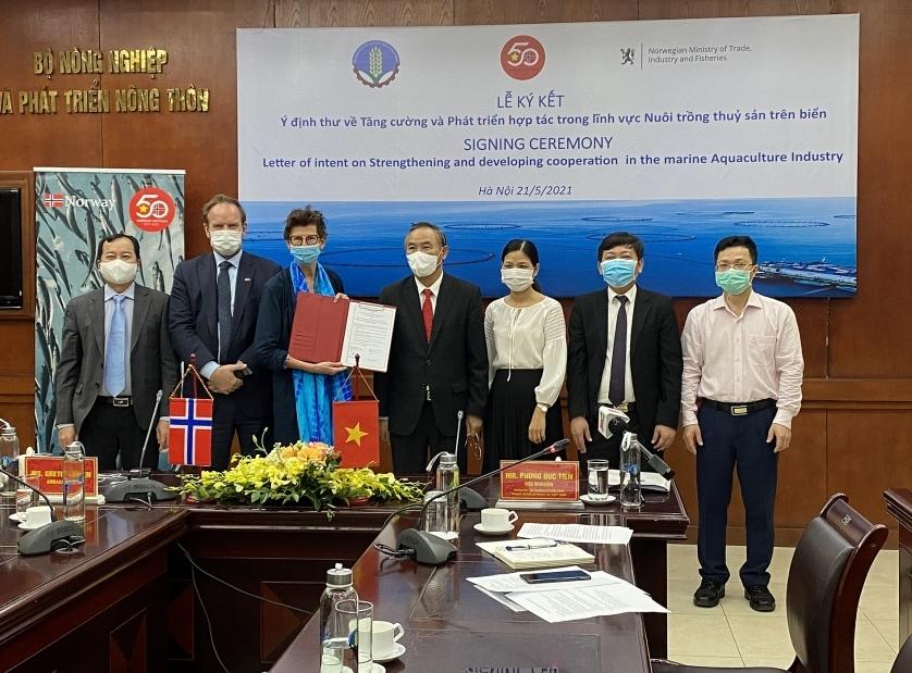 Vietnam and Norway strengthen cooperation in marine aquaculture industry