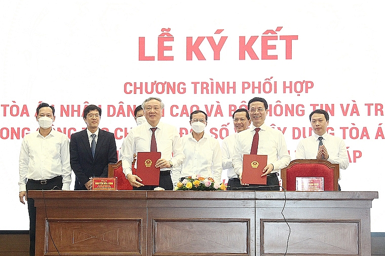 MIC and Supreme People's Court cooperate on digital transformation