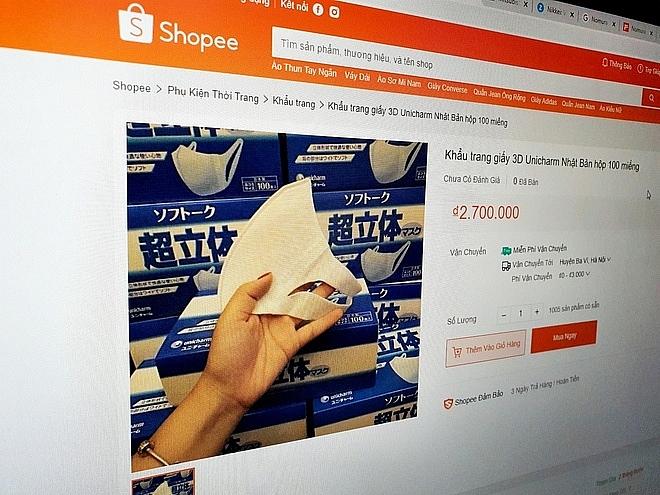 japanese mask sold for vnd27 million on shopee