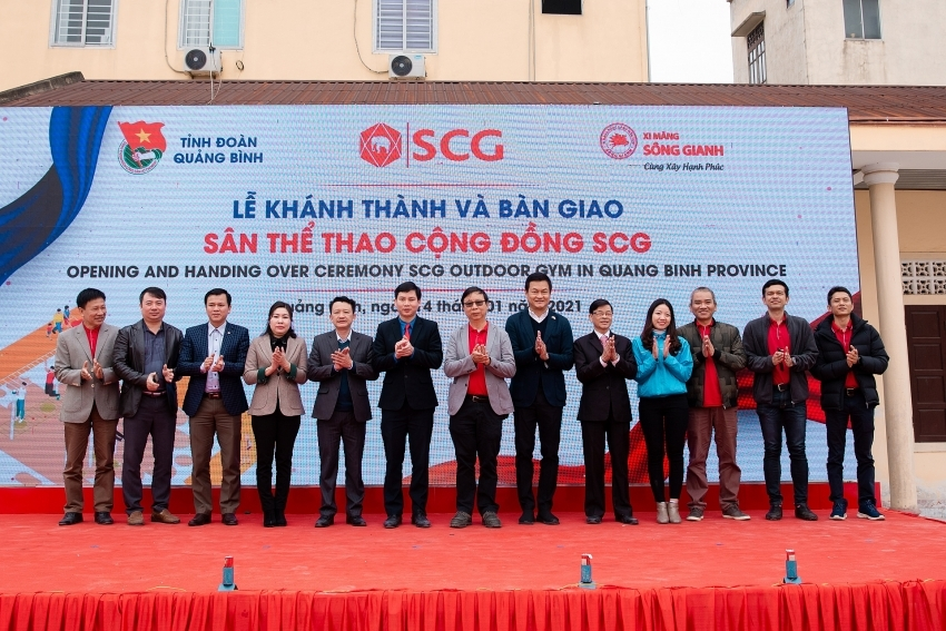 SCG builds outdoor community gym in Quang Binh
