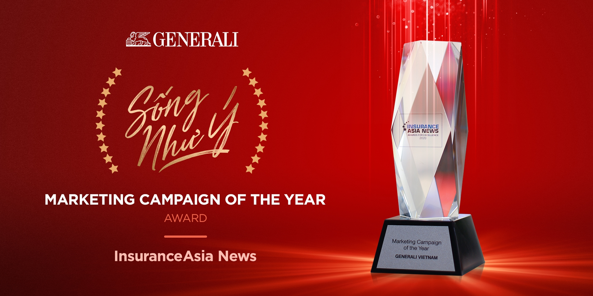 """Generali Vietnam's """"Song Nhu Y"""" awarded Marketing Campaign of the Year"""