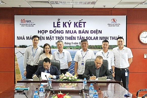 Thien Tan solar power project connected to national power grid
