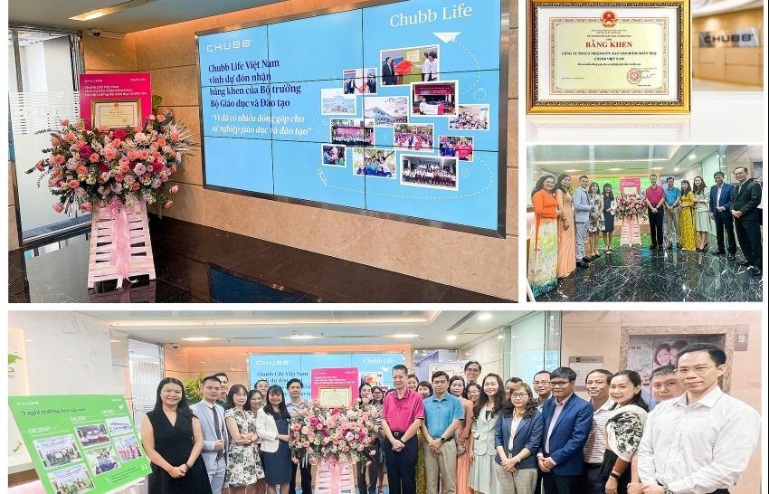 Chubb Life Vietnam awarded Certificate of Merit by Minister of Education and Training
