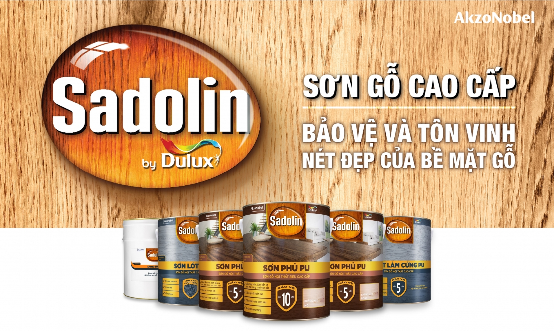 Sadolin from AkzoNobel brings global expert solution to enhance beauty of wood