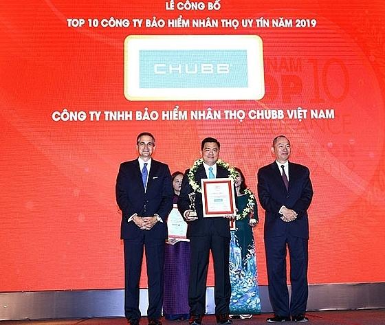 Chubb Life Vietnam wins Top 10 Vietnam Insurance Reputation Award 2019
