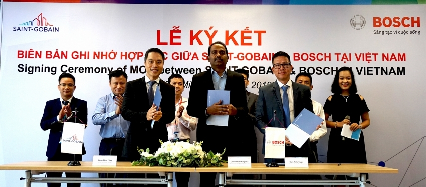 Bosch Vietnam signs partnership to provide power tools to Saint-Gobain