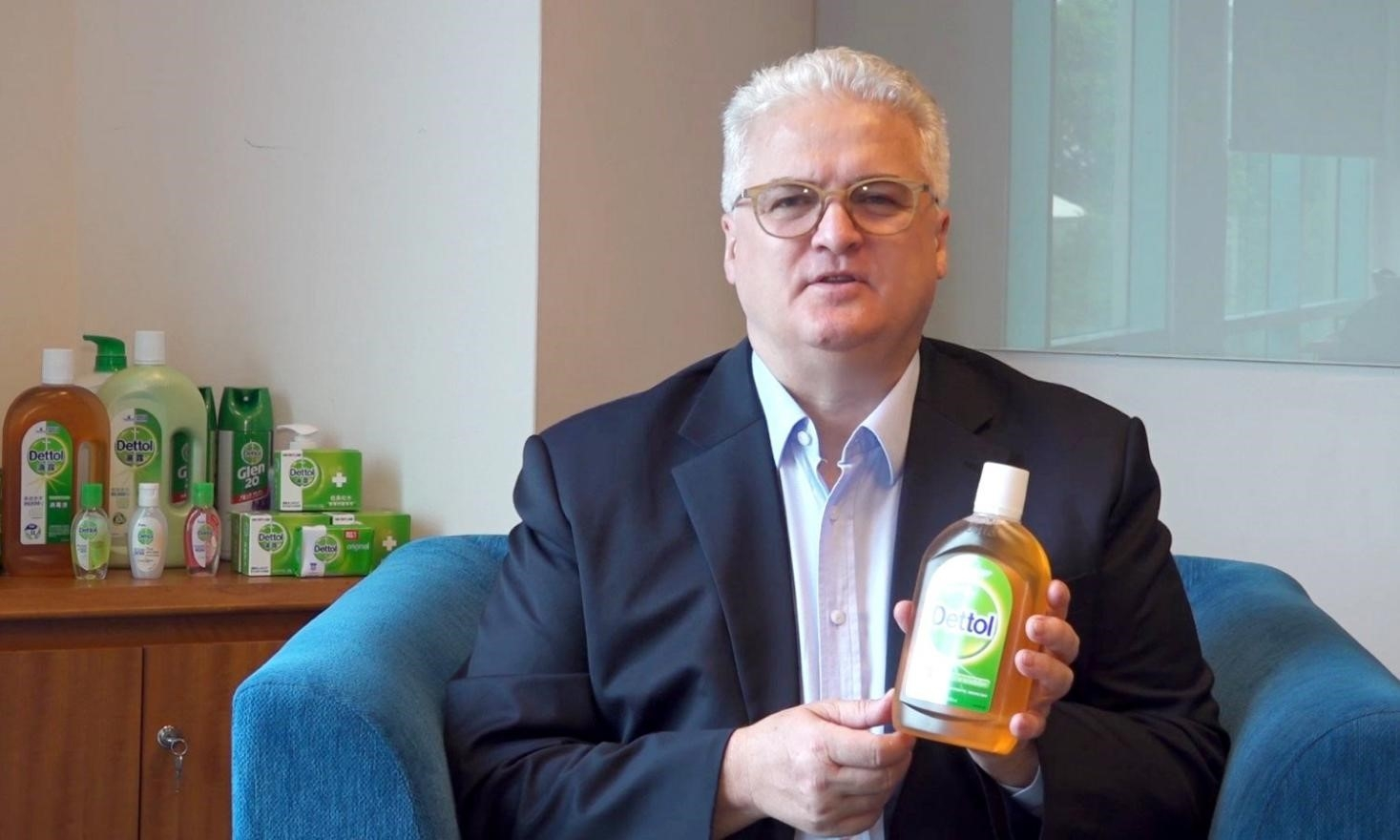 Reckitt's Dettol disinfectant presented to COVID-19 field hospitals