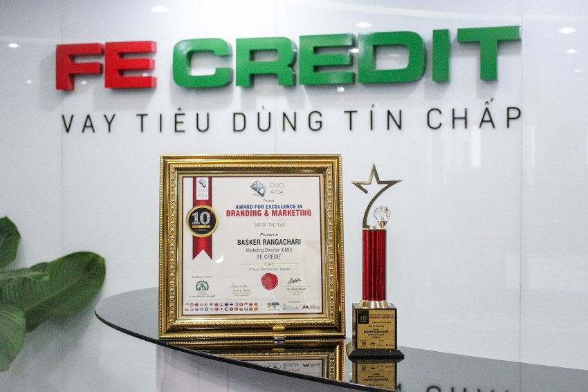 fe credit scores hat trick at cmo asia awards 2019