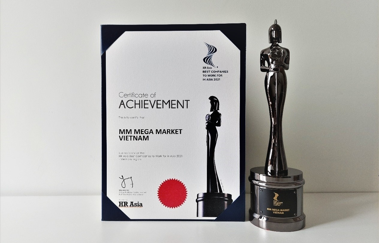 MM Mega Market Vietnam named among Best Companies to Work for in Asia 2021 by HR Asia