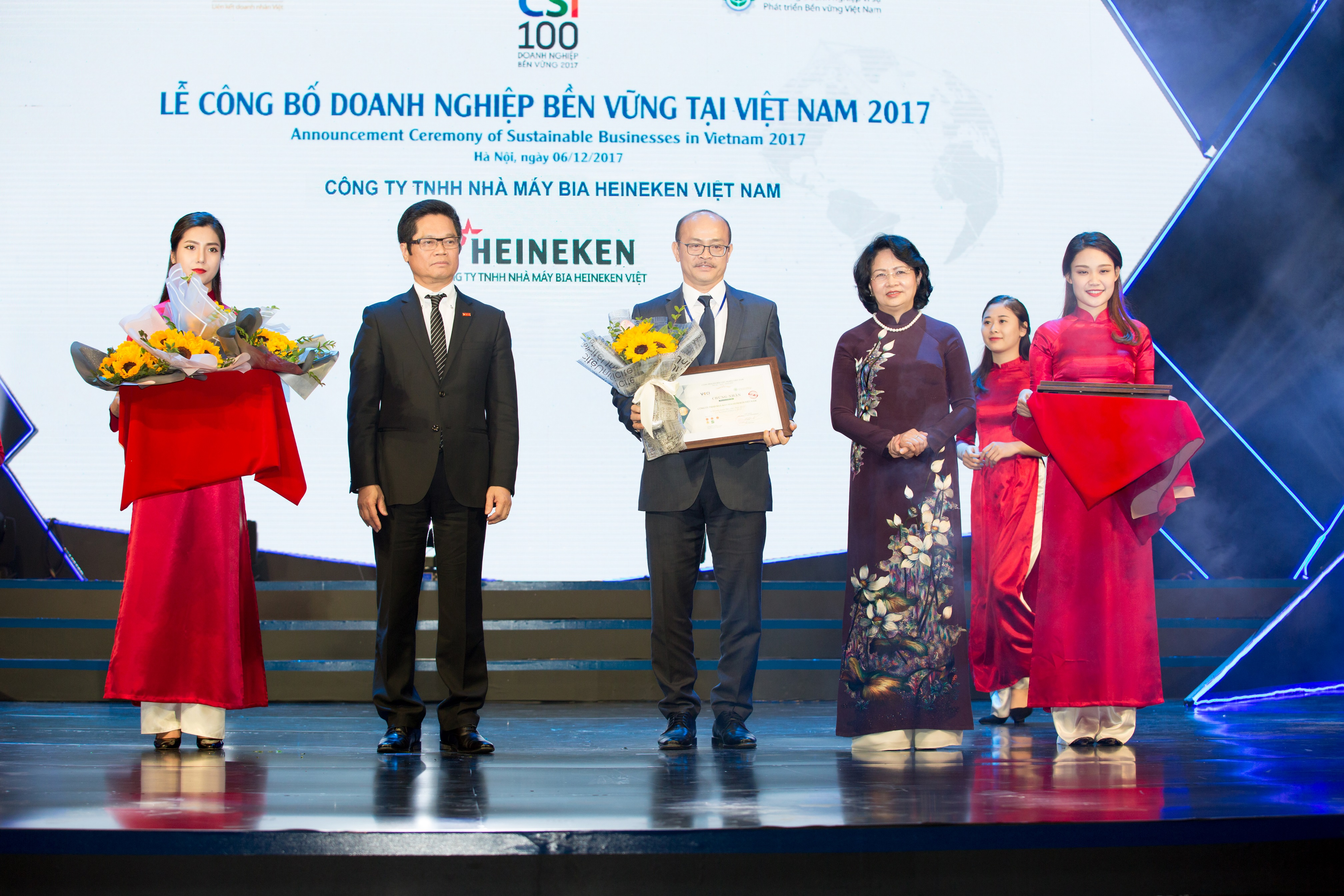 Heineken Vietnam named first sustainable manufacturing company