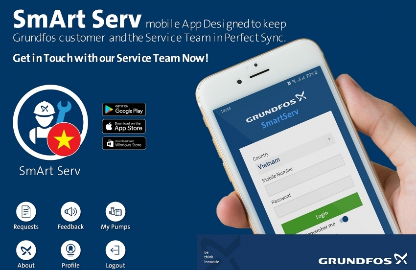 Water technologies firm Grundfos launches new service app in Vietnam