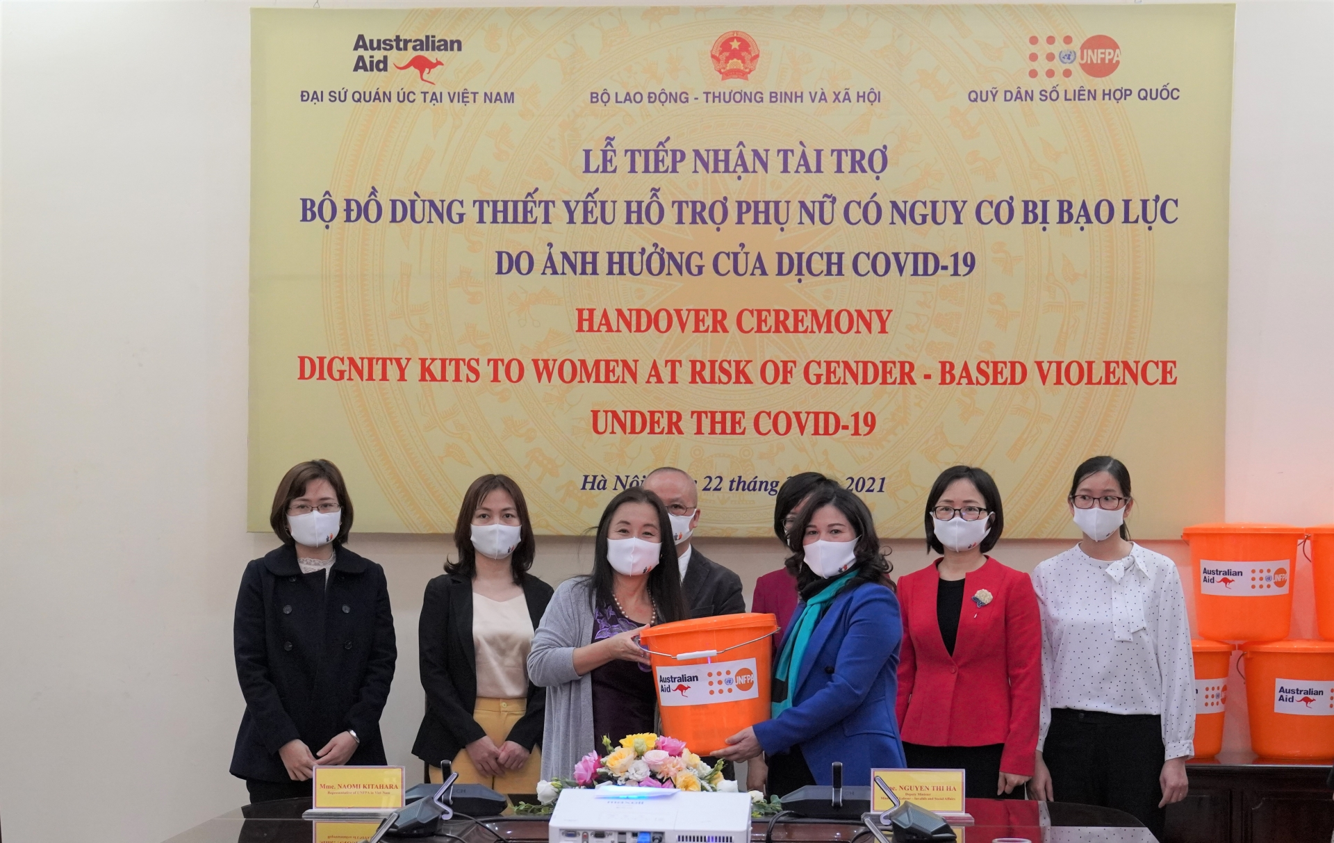 UNFPA provides 2,750 Dignity Kits to support women and girls at risk of violence
