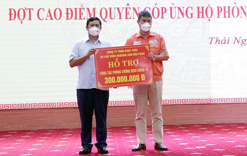 Nui Phao Mining Co.,Ltd. always spends a large portion of its annual budget to support socio-economic development for the local community