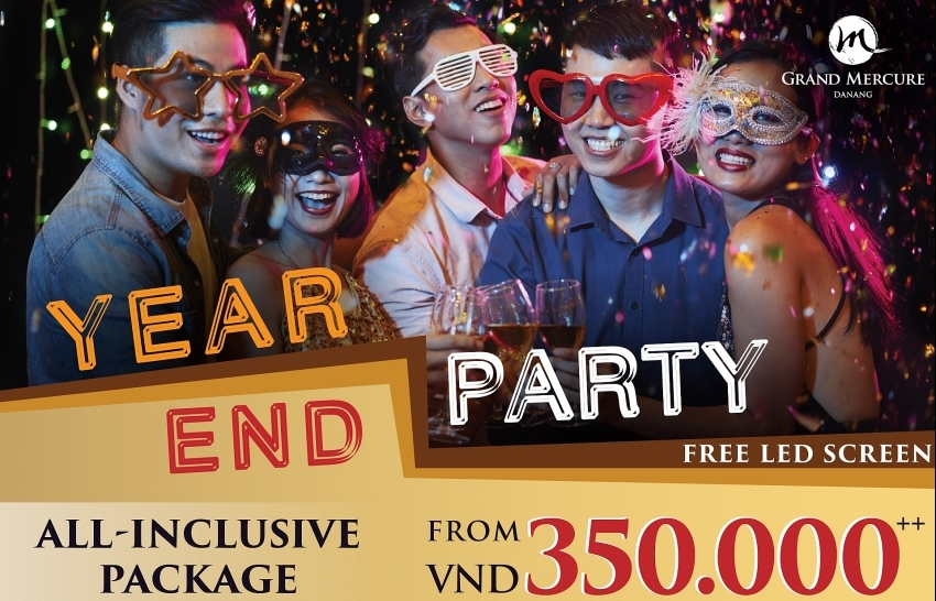 unveil all in package for year end party at grand mercure danang