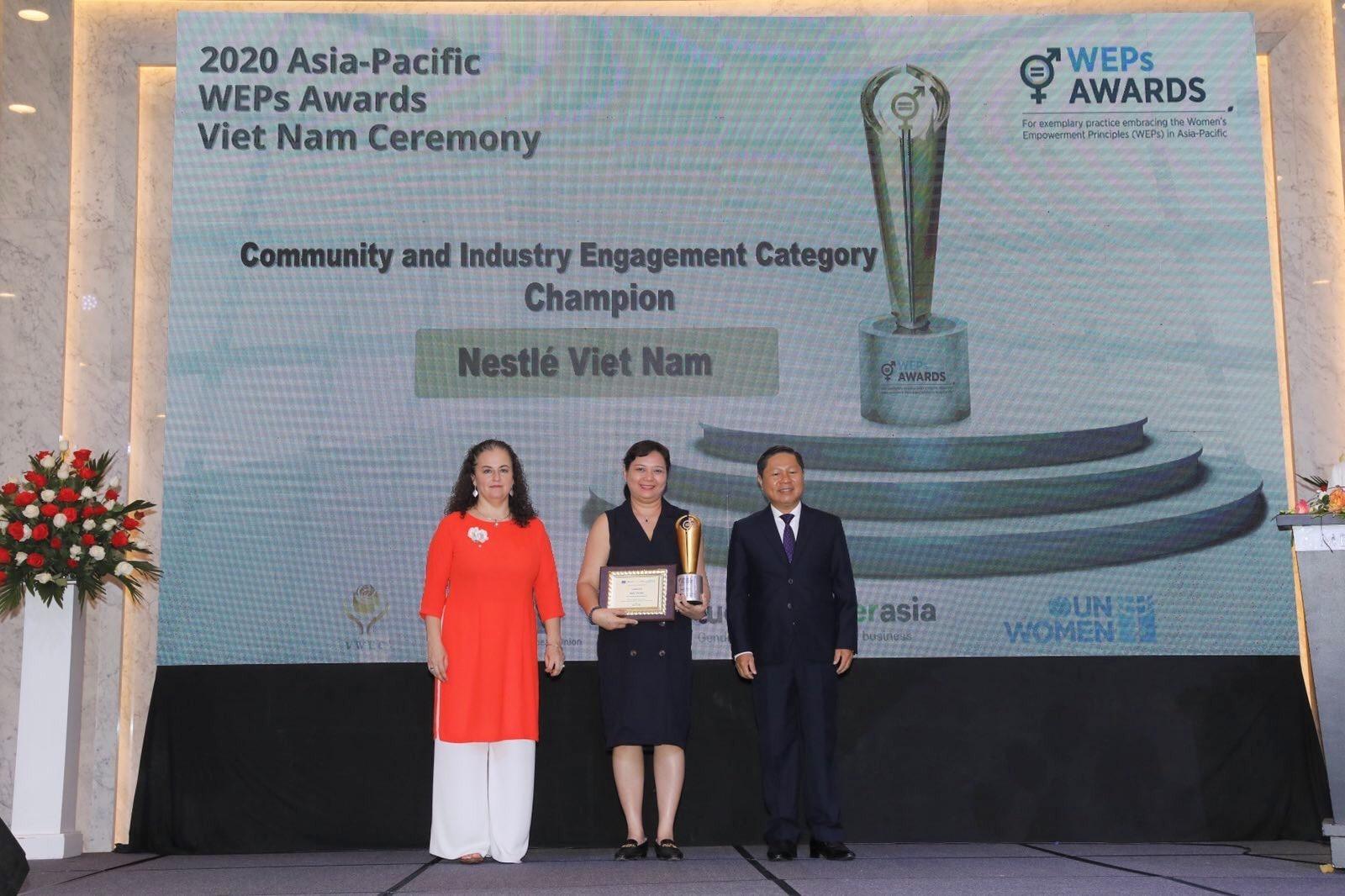 Nestlé Vietnam receives two UN Women awards for advancing gender equality