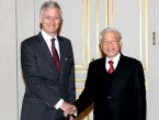 Party leader meets Belgian Crown Prince