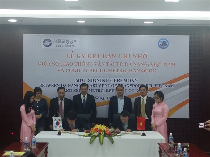 S Korea, Đà Nẵng agree to develop urban railway system