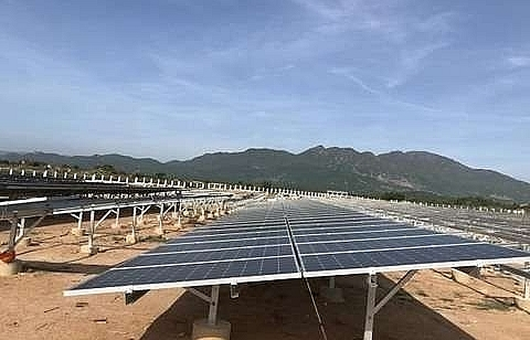 ninh thuans first solar power plant connected to national grid