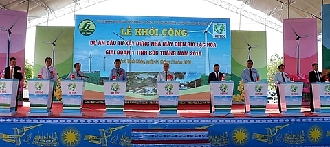 work begins on lac hoa wind power plant in soc trang