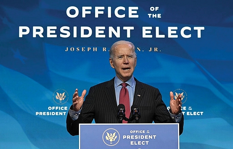 biden keen to promote a strong america united