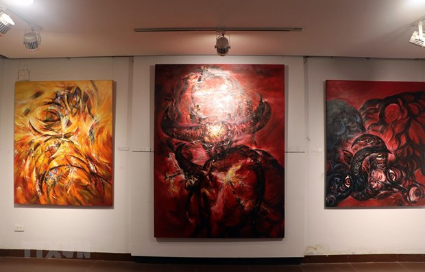 Paintings feature the buffalo – zodiac sign for 2021
