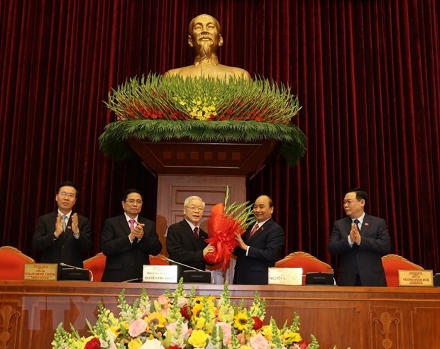 nguyen phu trong re elected as party general secretary
