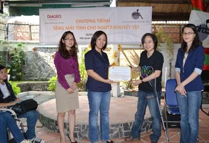 Diageo Vietnam donates computers