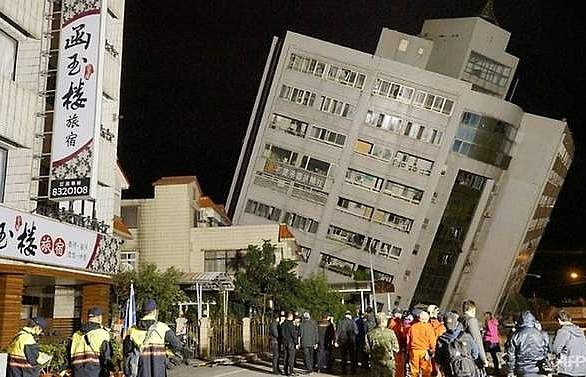 Two dead, more than 210 injured in Taiwan quake