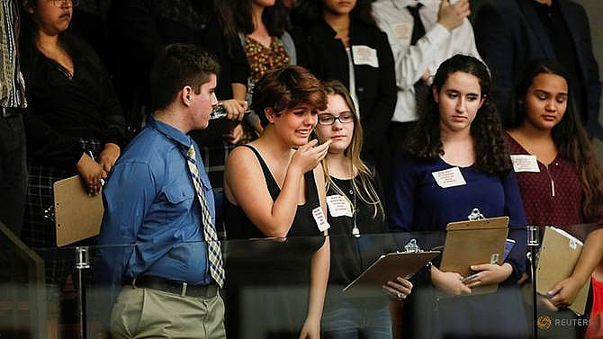students turn up heat on trump lawmakers over gun control