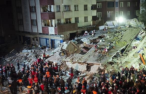 At least two killed after building collapses in Turkey's Istanbul: Official